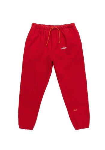 ALIFE generic logo fleece sweatpant red