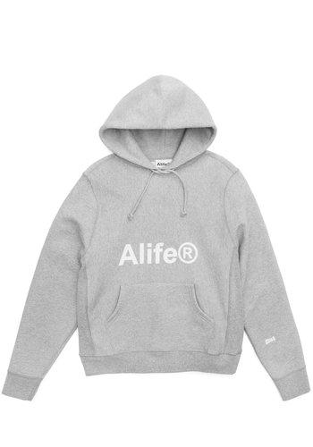 ALIFE generic logo half-zip hoodie heather grey