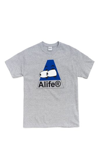 ALIFE bugged out tee heather grey blue