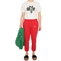 Generic Logo Fleece Sweatpant red