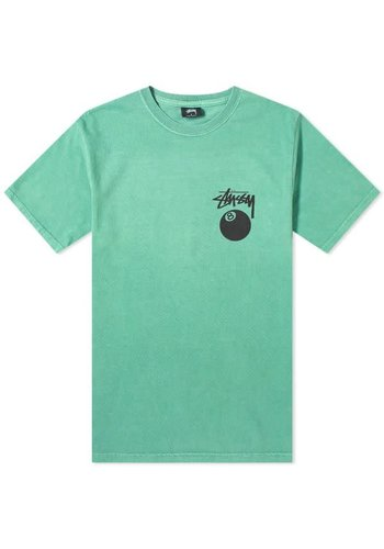 STUSSY 8 Ball pig. dyed tee moss
