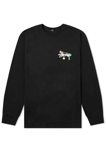 STUSSY dot collage ls tee black