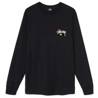 DOT COLLAGE LS TEE black