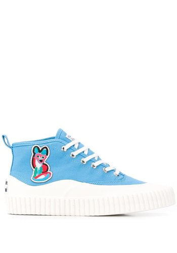 ACIDE MAISON KITSUNÉ high-top sneaker acide patch light blue