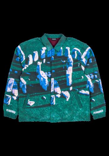 PLEASURES questions coaches jacket green