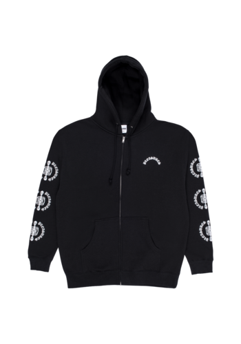 PLEASURES ritual zip hoody black