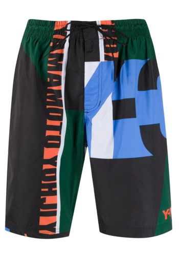 Y-3 swim shorts colorblock