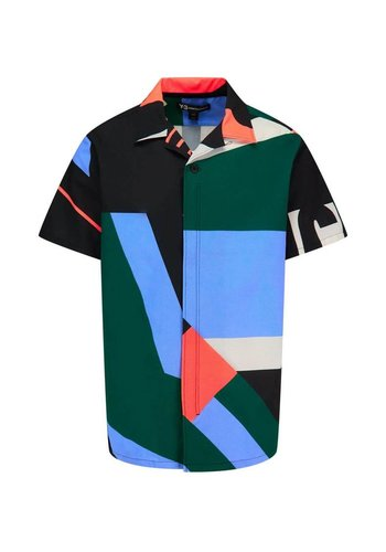 Y-3 swim aop resort shortsleeve shirt