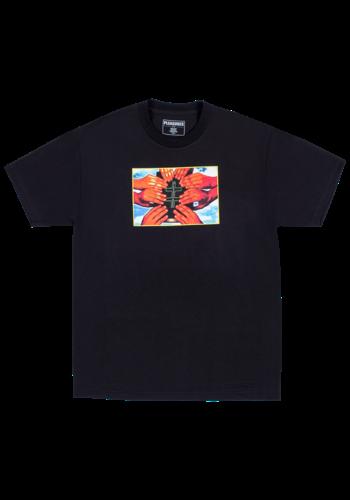 PLEASURES sharing t-shirt black