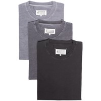 3-PACK T-SHIRTS FOG CEMENT CHARCOAL