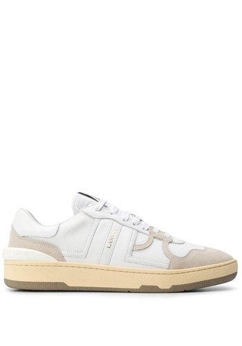 LANVIN leather clay-low-top sneakers