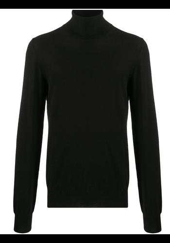 MAISON MARGIELA elbow patch knitwear turtleneck black