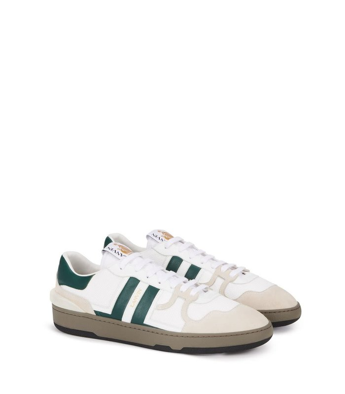 LEATHER CLAY LOW-TOP SNEAKERS GREEN