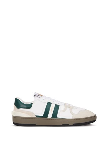 LANVIN leather clay low-top sneakers green