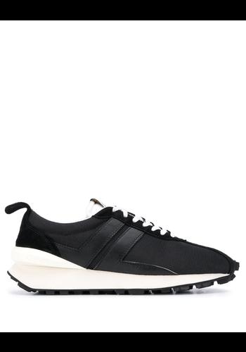 LANVIN bumper sneakers in mesh black white