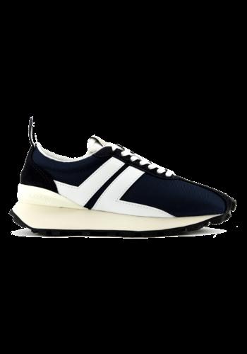 LANVIN bumper sneakers in mesh navy white