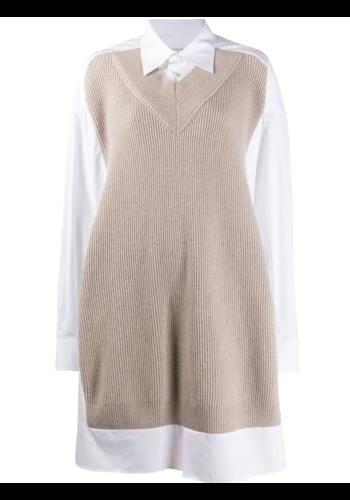 MAISON MARGIELA knitwear dress white powder
