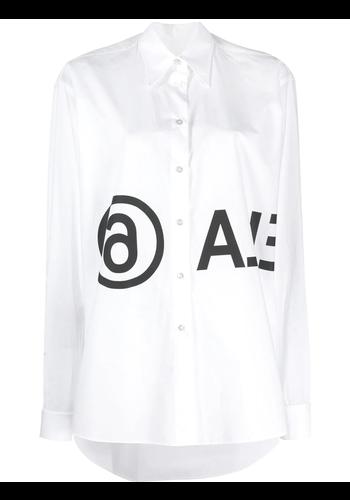 MM6 MAISON MARGIELA white logo shirt