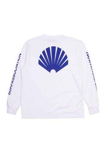 NEW AMSTERDAM SURFASSOCIATION logo longsleeve white/royal