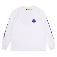 LOGO LONGSLEEVE WHITE/ROYAL
