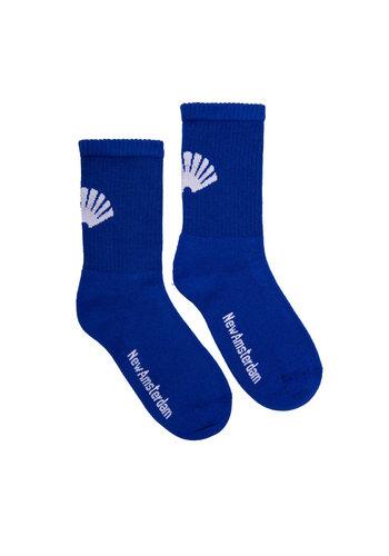NEW AMSTERDAM SURFASSOCIATION logo socks royal blue