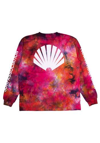 NEW AMSTERDAM SURFASSOCIATION logo longsleeve oil tie dye