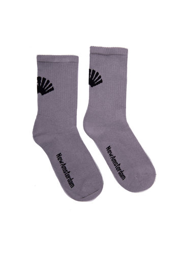 NEW AMSTERDAM SURFASSOCIATION logo socks gray black