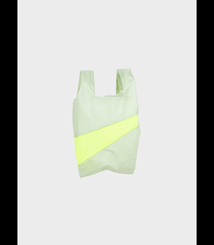 Shopping Bag Pistachio & Fluo Yellow S