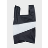 SUSAN BIJL Shopping Bag Black & White L