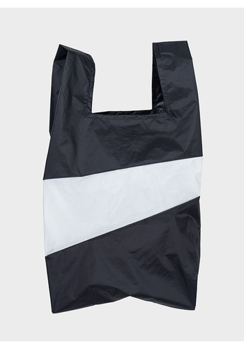 SUSAN BIJL shopping bag black & white l
