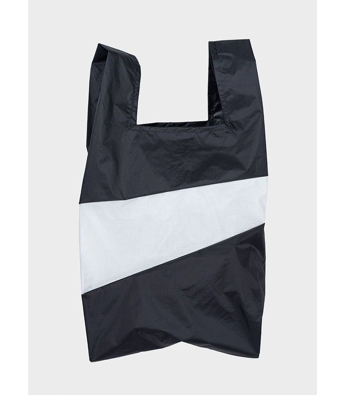 Shopping Bag Black & White L