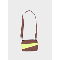 Bum Bag Brown & Fluo Yellow S