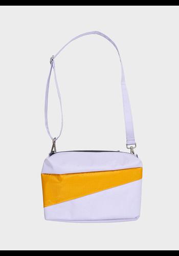 SUSAN BIJL bum bag lavender & moutarde m