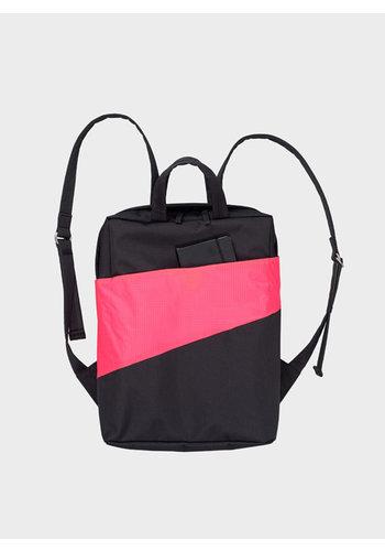 SUSAN BIJL backpack black fluo pink