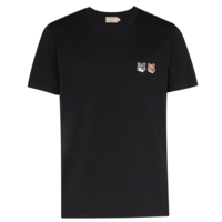T-SHIRT DOUBLE FOX HEAD PATCH ANTHRACITE
