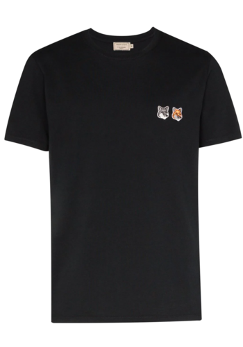 MAISON KITSUNE t-shirt double fox head patch anthracite