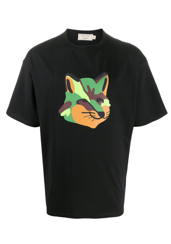 MAISON KITSUNE oversized tee-shirt neon fox print