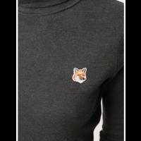 MERINOS TURTLENECK FOX HEAD PATCH ANTHRACITE