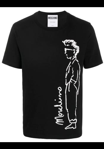 MOSCHINO uomo t-shirt black