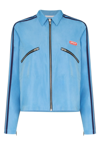 ADIDAS adidas x lotta volkova zip shirt light blue