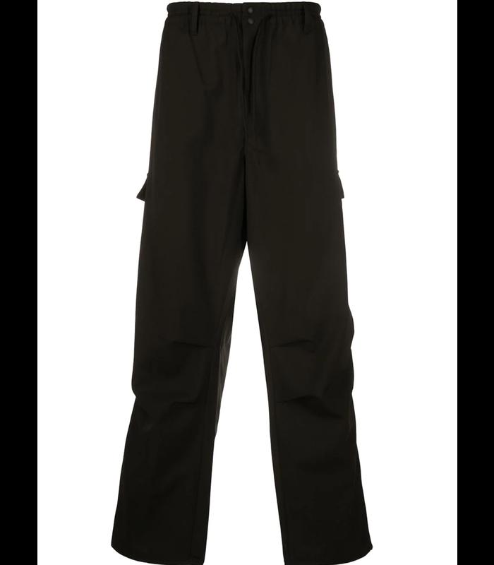 CLASSIC WINTER WOOL CARGO PANTS BLACK