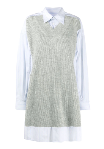 MAISON MARGIELA knitwear dress sky striped light grey
