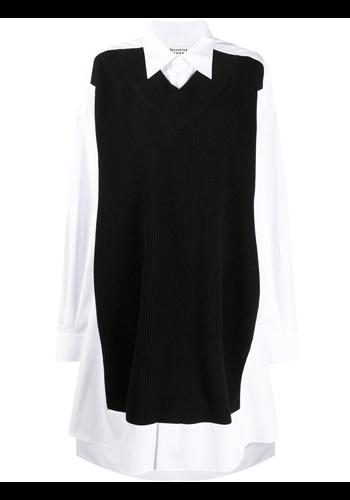MAISON MARGIELA knitwear dress white black