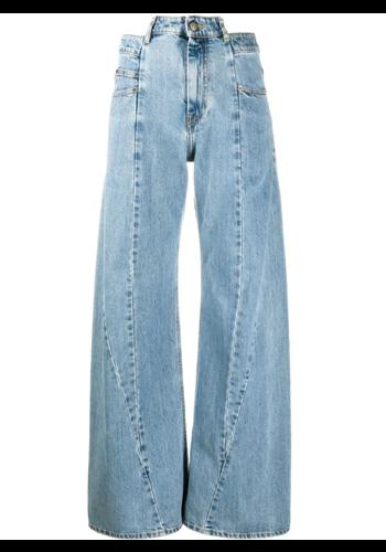 MAISON MARGIELA décortiqué wide leg jeans stone wash