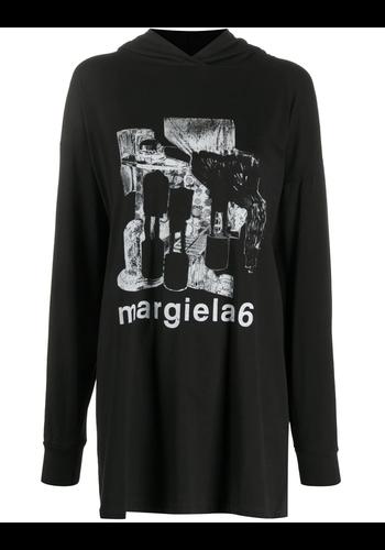 MM6 MAISON MARGIELA black logo t-shirt hoodie