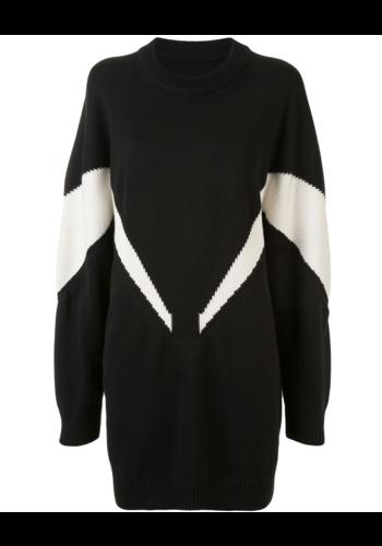 MM6 MAISON MARGIELA intarsia knitwear dress