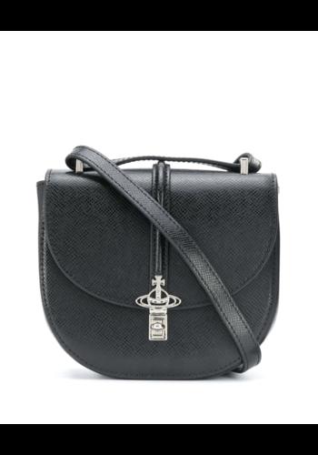 VIVIENNE WESTWOOD sofia mini saddle bag black