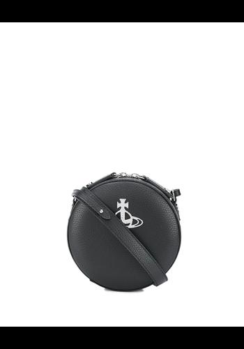 VIVIENNE WESTWOOD johanna round crossbody bag black