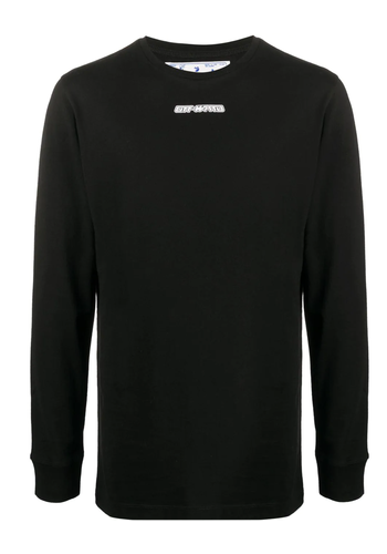 OFF-WHITE marker l/s tee black red