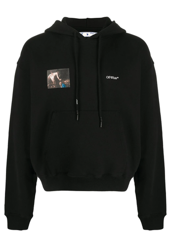 OFF-WHITE caravaggio angel over hoodie black